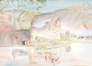 Château en Écosse Aquarelle 20/30