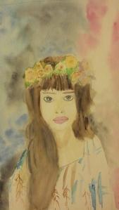 jeune fille à la couronne de roses