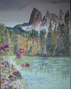lac-et-montagne-fantastique-huile-cur-papier-2
