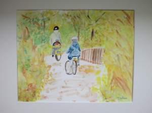 promenade à vélo en automne