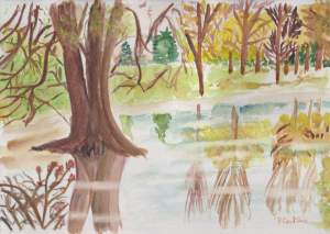 """""""Reflets d'automne"""" aquarelle pascale coutoux"""