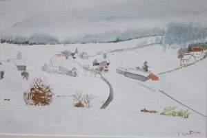 village-dans-la-neige-aquarelles