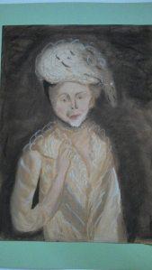 jeune homme triste portrait réalisé au pastel Pascale Coutoux