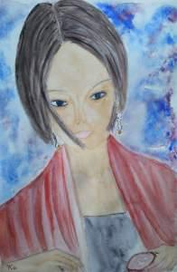 """""""japonaise"""" aquarelle pascale coutoux"""