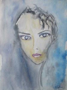"""""""Louise"""" Coutoux pascale aquarelle"""