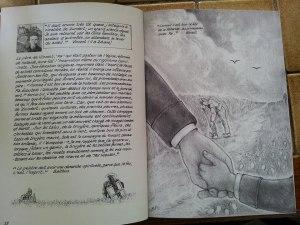"""intérieur du livre """"Vincent l'enfant de l'ombre"""""""