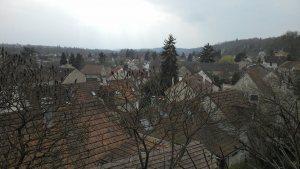 Vue sur Auvers depuis le jardin du docteur Gachet