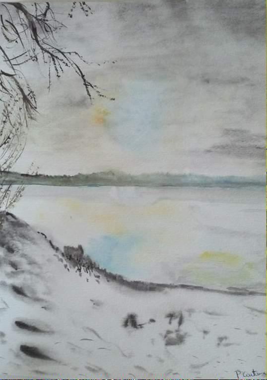 11coucher de soleil sur le lac des settons en hiver_n