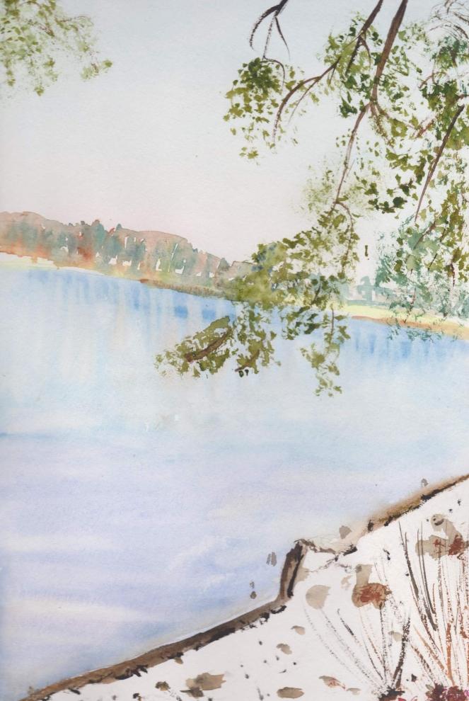 Lac des settons en hiver retr 001