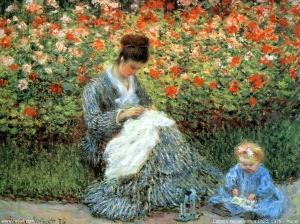 Camille Monet et son enfant