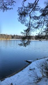 Lac des settons en hiver