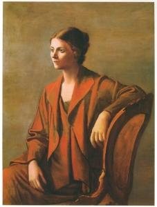 portrait de la femme de l'artiste