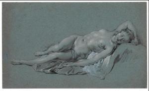 étude de nu Govert flinck élève de Rembrandt 1635