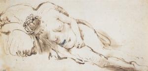étude de nu Govert Flinck élève de Rembrandt