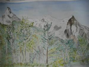 mont blanc vu de chamonix