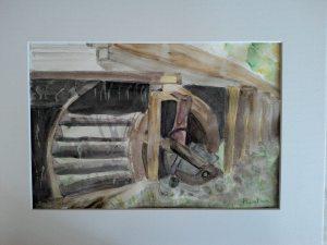roue à aube dans une scierie abandonnée_n