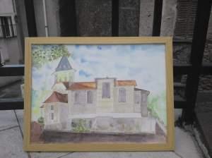 église de Montigny les Cormeilles Voici le travail terminé et encadré en milieu de journée