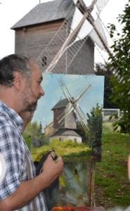 Sergueï Toutounov peint le moulin de Sannois