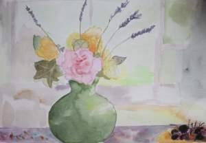 """bouquet de fin d'été"""" aquarelle Pascale Coutoux"""