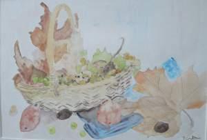 """""""moisson d'automne"""" aquarelle pascale coutoux"""