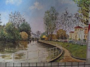 """""""le petit lac"""" Marc Etiennay huile"""