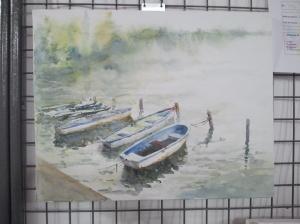 """""""Sous la pluie"""" Marc Desreumaux aquarelle"""