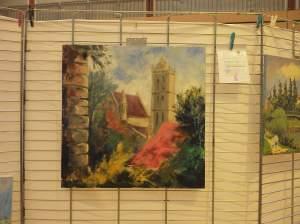 beaumont théron l'église vue du château