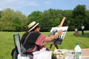 Je suis en train de peindre