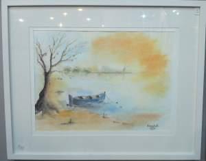 Thérèse Doan Dinh aquarelle et huile sur bois