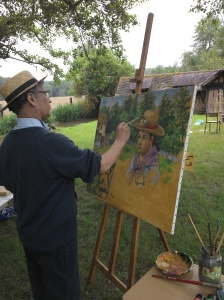 Hafiz Paksad peint à l'ombre
