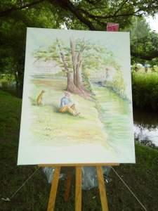 aquarelle de mon voisin terminée