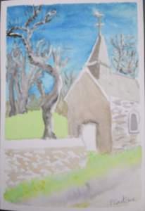 carte postale chapelle anost printemps