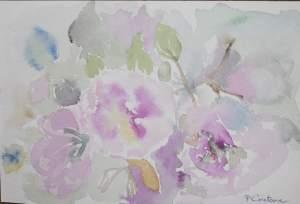 carte postale fleurs roses