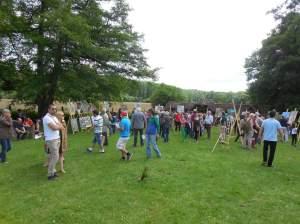 la foule envahit l'exposition