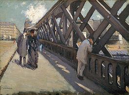 le pont de l'europe Gustave Caillebotte 1876