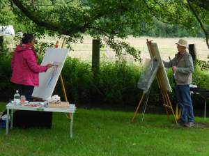 mon tableau vendredi après-midi début de peinture
