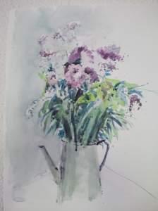 bouquet de fleurs peint par pierre