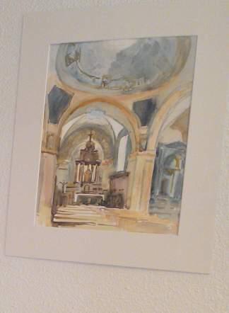 église d'onnion peinte par Marc Desreumaux