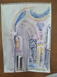 église d'onnion peinte par pierre bricet