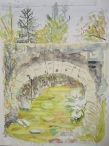 """""""le pont picot"""" aquarelle pascale coutoux"""