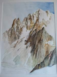 montagnes peintes par Marc Desreumaux