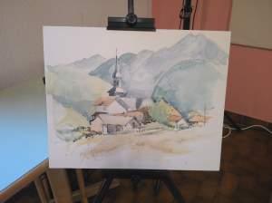 village d' Onnion peint par pierre Bricet