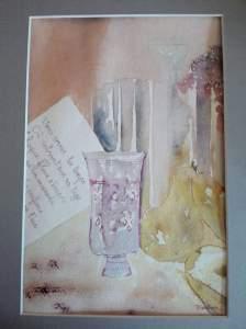 """""""harmonie du soir"""" aquarelle pascale coutoux"""