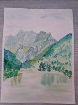 lac vallon aquarelle pascale coutoux