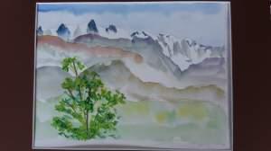 chaine du mont blanc vue d'onnion