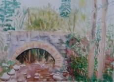 Pont Piccot aquarelle pascale coutoux