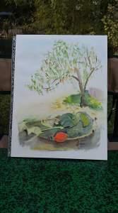 arbre et citrouilles