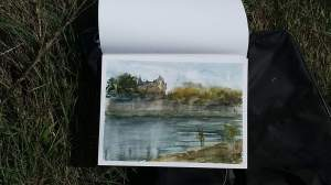 chateau de chaumont peint par tivo