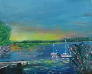 coucher de soleil sur la baie de la faye 2