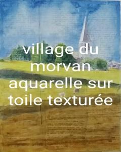 village du morvan aquarelle